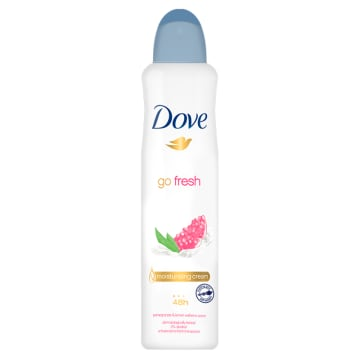 Dove - Antyperspirant w aerozolu z granatem i verbeną pięknie pachnie i zapewnia ochronę na długo.