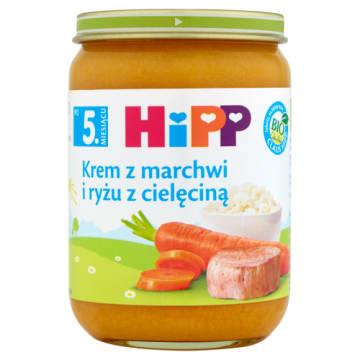 Hipp - Krem z marchwi i ryżu z cielęciną. Doskonałe uzupełnienie diety malucha.