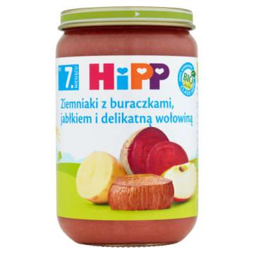 Posiłek dla niemowląt po 7 miesiącu – Hipp zawiera ziemniaki, buraczki, jabłko i wołowinę.