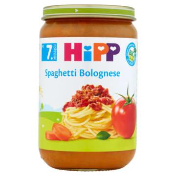 HIPP Spaghetti Bolognese - od 7 miesiąca BIO 220g. Pożywny, mięsno-warzywny posiłek dla niemowląt.