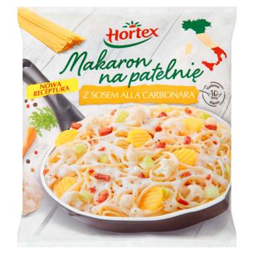 Hortex – mrożony makaron na patelnię z sosem carbonara. Szybki sposób na włoskie danie.