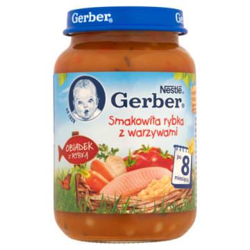 Gerber-ryba z warzywami po 8 m. życia. Pożywny posiłek.