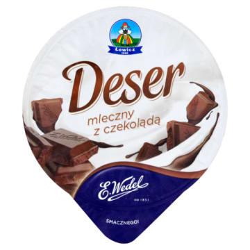 Deser mleczny z czekoladą Wedel – OSM Łowicz to doskonały, delikatny krem z gorzką czekoladą.