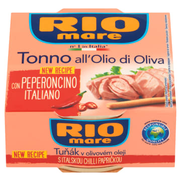 Tuńczyk w oliwie z papryką chilli - Rio Mare. Łagodno-ostre połączenie smaków.