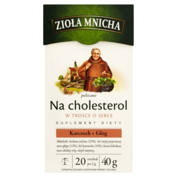Herbata ziołowa na cholesterol – Zioła Mnicha Big Active. Na bazie tradycyjnych polskich receptur.