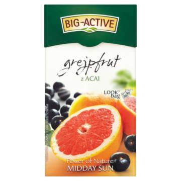 Herbata owocowa - Big-Active. Świeży napar o lekko gorzkawym smaku grejpfruta.