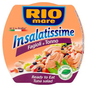 Insalatissime Sałatka z tuńczykiem Rio Mare to gotowa do spożycia lekka przekąska.