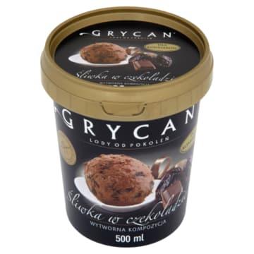 Grycan - Lody Familijne Premium śliwka czekolada. Lodowy deser na poprawę humoru.