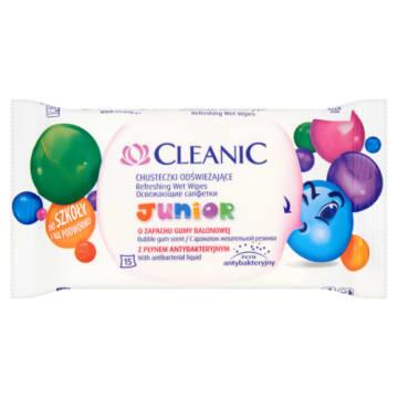 Chusteczki antybakteryjne - Cleanic Junior. To doskonała pielęgnacja skóry dziecka.