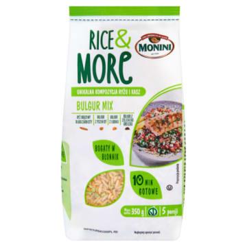Kasza Bulgur Mix - Monini. Połączenie kilku rodzajów ryżów i kasz. Zdrowy pomysł na obiad.