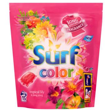 Tropikalne kapsułki do prania kolorów-Surf. Skutecznie usuwają wszelkie zabrudzenia.