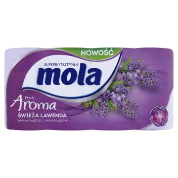 Papier toaletowy Aroma Świeża Lawenda Mola Fresh - delikatny i wytrzymały.