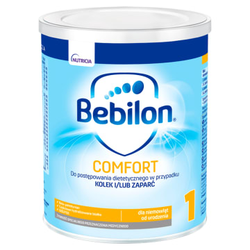 BEBILON Comfort 1 ProExpert Dietetyczny środek spożywczy dla niemowląt od urodzeni 400g