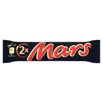 Baton z nadzieniem nugatowo-karmelowym (2 pack) - Mars. Doskonała przekąska na podróż.
