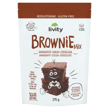 LIVITY Ciasto brownie amarantus kakao czekolada bezglutenowe 275g