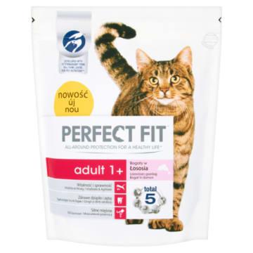PERFECT FIT ADULT 1 Karma pełnoporcjowa dla dorosłych kotów bogaty w łososia 750g