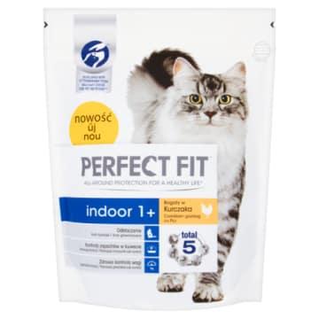 PERFECT FIT INDOOR 1 Karma pełnoporcojowa dla dorosłych kotów bogaty w kurczaka 750g