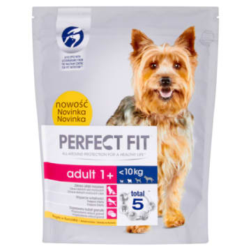 PERFECT FIT ADULT 1 Karma pełnoporcjowa dla dorosłych psów bogata w kurczaka 825g
