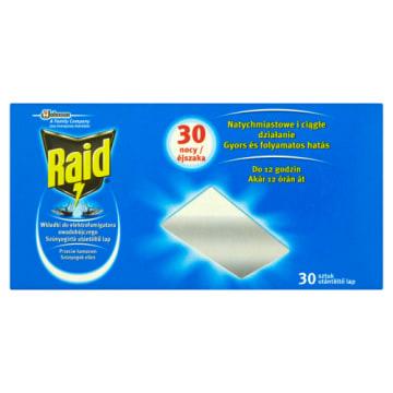 RAID Wkładki przeciw komarom do elektrofumigatora owadobójczego 30szt 1szt