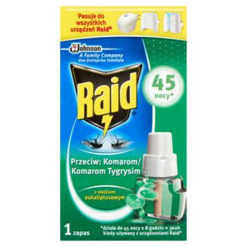 RAID Płyn do urządzenia elektrycznego 45 nocy  o zapachu Eukaliptus 27ml