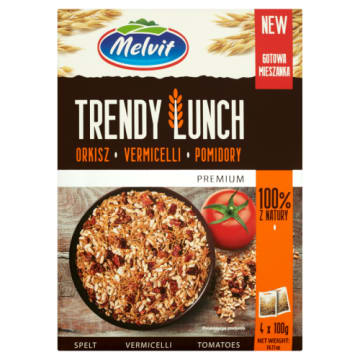 MELVIT Trendy Lunch Orkisz, vermicelli, pomidory 4 x 100g 400 g