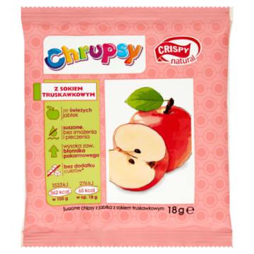 Natural Chipsy chrupiące plasterki jabłka - Cripsy. Doskonała przekąska.