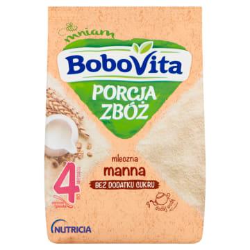Kaszka mleczna manna - Bobovita. Mleczno zbożowy-posiłek dla niemowląt.