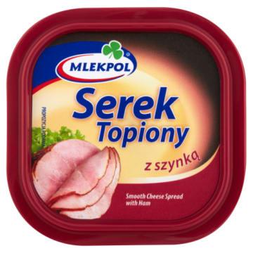 Serek topiony z szynką 100g - Mlekpol. Idealny do pieczywa.