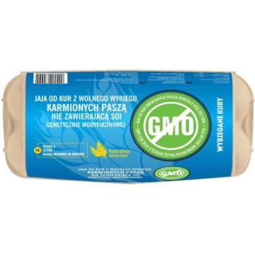 WYBIEGANE KURY Jaja kurze z wolnego wybiegu Stop GMO  rozmiar M, 10 szt 1szt