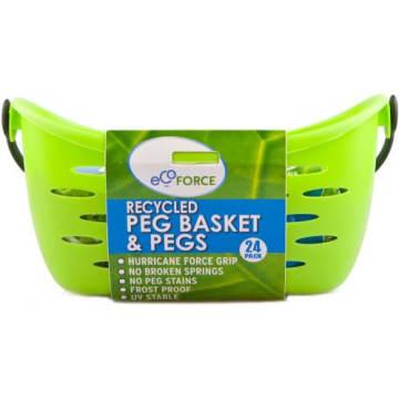 ECOFORACE Spinacze do prania, klamerki z koszykiem z recyklingu 1szt