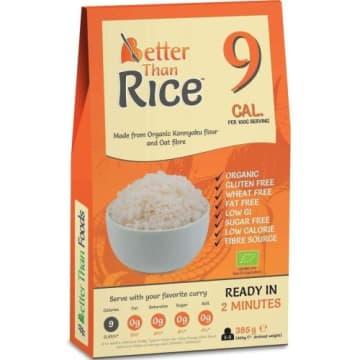 BETTER THAN FOODS Makaron konjac w kształcie ryżu bezglutenowy BIO 385g