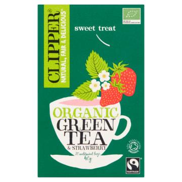 CLIPPER Herbata zielona z truskawką organiczna 20szt 0g