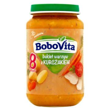 Bukiet warzyw z kurczakiem po 8 m.ż. - Bobovita to pełnowartościowy posiłek, bez konserwantów.