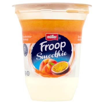 Mullet Froop Jogurt z musem o smaku marakui i brzoskwini to bogate źródło witamin, białka i wapnia.