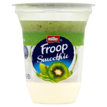 Muller Froop - Jogurt z musem o smaku kiwi. Kremowy jogurt produkowany ze świeżych składników.
