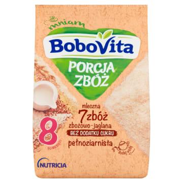 Kaszka mleczna 7 zbóż - Bobovita wzbogacona jest o cenne składniki odżywcze. Wspiera zdrowy rozwój.