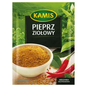Kamis-Pieprz ziołowy 15 g to doskonały dodatek do mięs, zup i sałatek.
