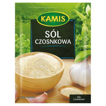 Kamis - Sól czosnkowa 35g do oryginalna przyprawa do różnych dań. Sól jest bogata w jod.