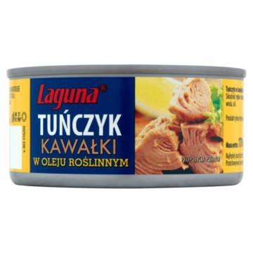 Tuńczyk w kawałkach w oleju - Lagun. Świetny dodatek do wielu produktów.