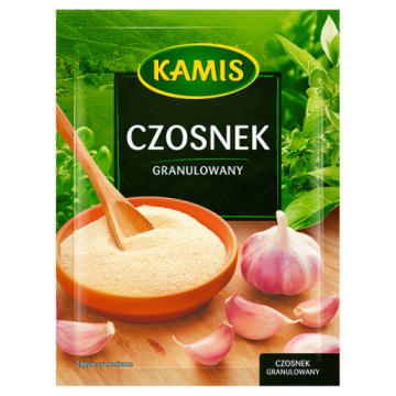 Kamis - Czosnek granulowany. Przyprawa niezbędna w kuchni.