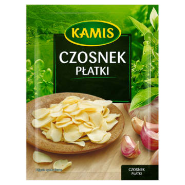 Kamis - Czosnek w płatkach. Dodatek do różnych potraw w praktycznej formie.