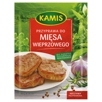 KAMIS Przyprawa do mięsa wieprzowego 20g - bardzo wzbogaci smak popularnej wieprzowiny.