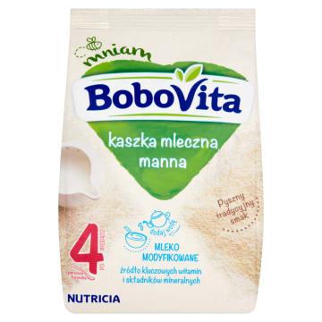 Mleczna kaszka manna - Bobovita. Pyszny i zdrowy posiłek dla najmłodszych.