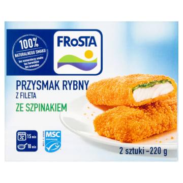 Przysmak rybny ze szpinakiem - Frosta to udane połączenie filetów z mintaja ze sosem szpinakowym.