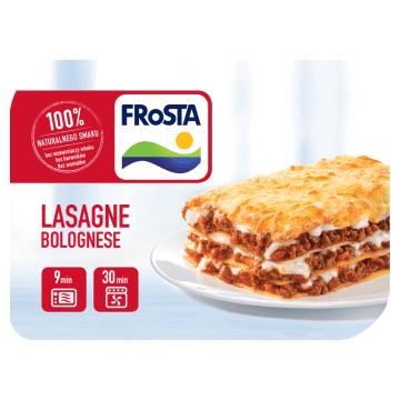 Lasagne - Frosta. Dla wielbicieli kuchni włoskiej gotowe danie w wygodnym opakowaniu.
