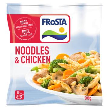 Noodles & Chicken Kurczak po szwajcarsku mrożony Frosta - pożywne błyskawiczne danie.
