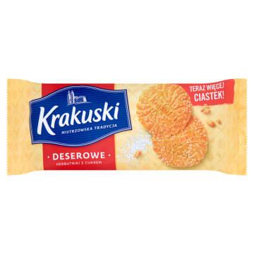 Herbatniki deserowe z cukrem - Bahlsen. Są w pełni naturalne i nie zawierają żadnych konserwantów.