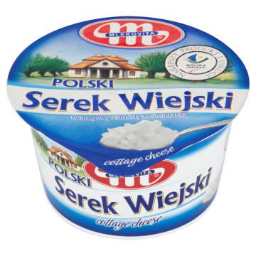 MLEKOVITA Polski Wiejski Serek twarogowy ziarnisty ze śmietanką 200g