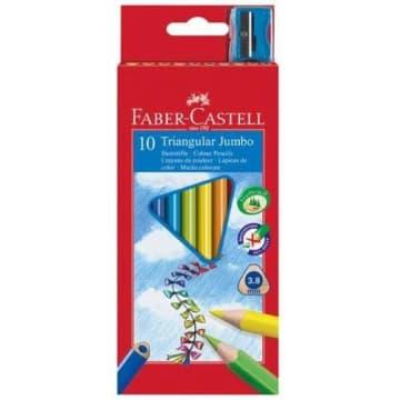 FABER-CASTELL Kredki ołówkowe szkolne trójkątny kształt 10 kolorów 1szt