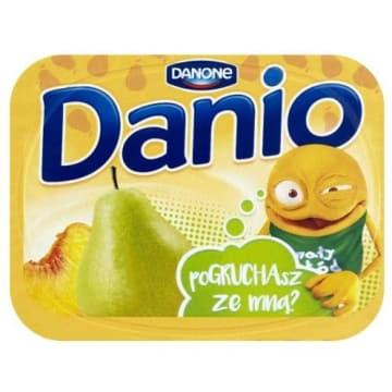 DANONE DANIO Serek gruszkowo-brzoskwiniowy 135g